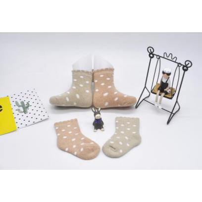 有机棉点点毛圈袜(0-1岁)